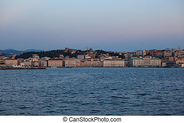 Trieste - View of Trieste at sunset - Italy