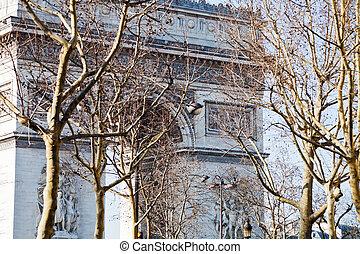 view of Triumphal Arch in Paris
