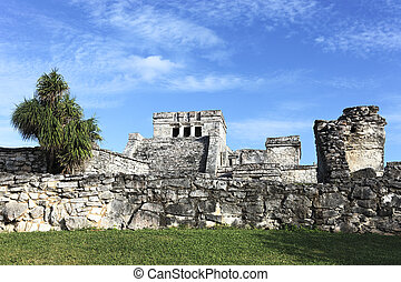 view of Tulum ruins