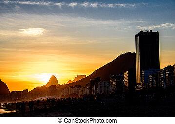 View of Two Brothers Dois Irmaos Mountain and Pedra da Gavea, Rio de Janeiro