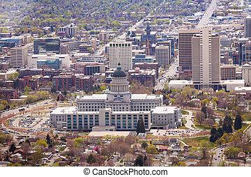 View of Utah Capitol building in Salt Lake City