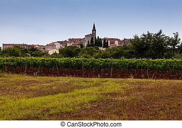 View of Valle - Bale in Istria. Croatia