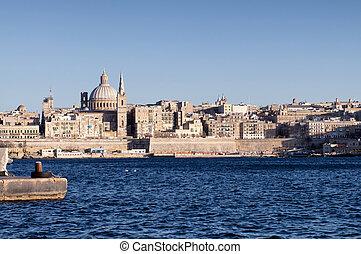 View of Valletta, Malta.