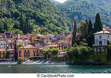 View of Varenna on Como lake