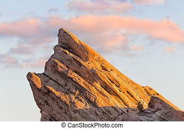 View of Vasquez Rocks at Sunset - View of Vasquez Rocks at...