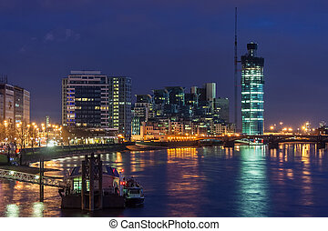 View of Vauxhall, London by night