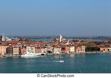 View of Venice in the morning