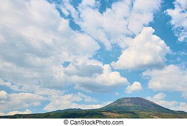 View of Vesuvius volcano from Naples
