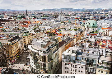 View of Vienna city from the roof