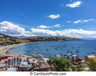 village of Juli at lake Titicaca