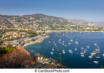 View of Villefranche-sur-mer, French riviera