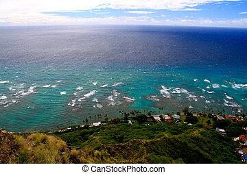 View of Waikiki beach from Diamond Head