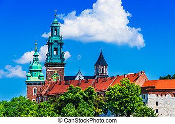 View of Wawel Castle in Krakow, Poland