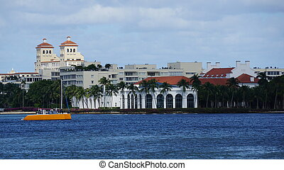 View of West Palm Beach in Florida (USA)