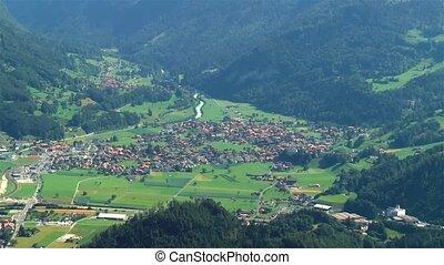 High angle view of Wilderswil, Interlaken-Oberhasli, Switzerland