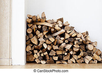 Woodpile  - View of Woodpile for fireplace