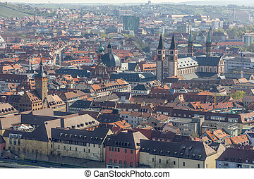 View of Wurzburg, Germany.