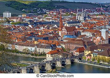 View of Wurzburg, Germany