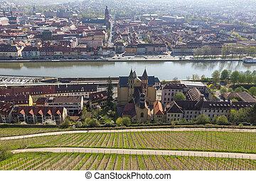 View of Wurzburg, Germany.