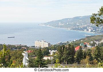 View of Yalta city from Massandra region