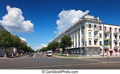 View of Yaroslavl - central street
