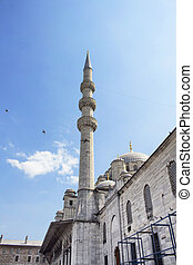 View of Yeni mosque in Eminonu/Istanbul