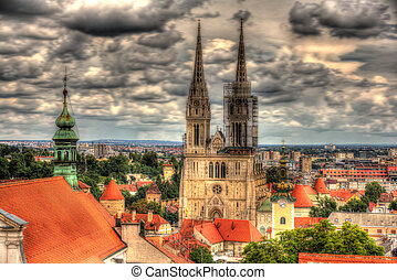 View of Zagreb Cathedral - Croatia