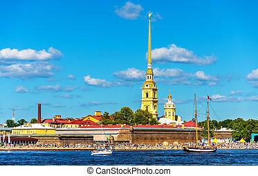 View of Zayachy island in Saint Petersburg