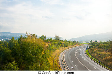 View on a road in Germany