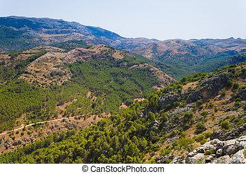 View on a Sierra in Spain