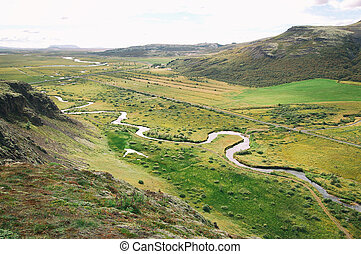 View on a snake river from the top of mountain