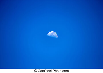 View on a waning moon
