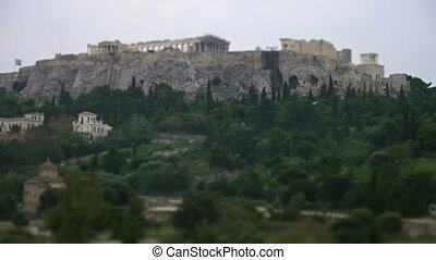 View on Acropolis Hill in Athens, Greece
