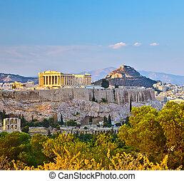 View on Acropolis in Athens - View on Acropolis, Athens, ...