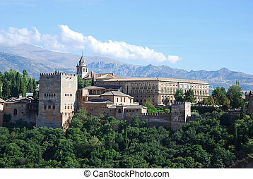 View on Alhambra palace