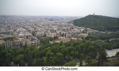 View on Athens city and Odeon of Herodes Atticus.