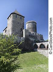 view on Bedzin Castle in Poland,
