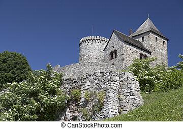 view on Bedzin Castle in Poland