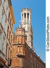 Belfry tower in Bruges