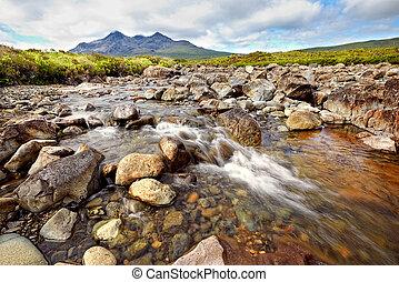 view on Black Cuillin ridge, Isle of Skye, Scotland