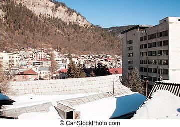 View on Borjomi town in Georgia