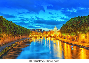 View on Bridge Vittorio Emanuele II (Ponte Vittorio Emanuele...