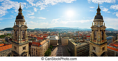 View on Budapest from basilica
