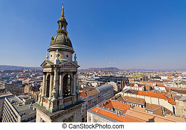 View on Budapest from st. Stephen's Basilica, Hungary