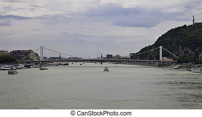 View on Budapest with the Donau river in Hungary
