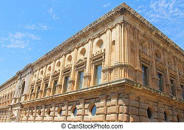 Carlos V Palace in Granada - View on Carlos V Palace in...
