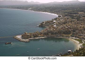 Castellammare del Golfo - view on Castellammare del Golfo in...