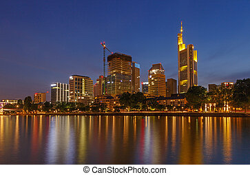 center of Frankfurt am Main at night