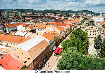 view on central part of Kosice