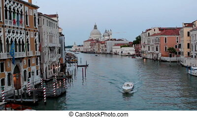 View on channel from Rialto bridge